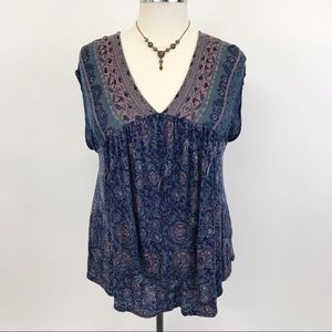Lucky brand colorful sleeveless top 2X